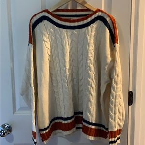 Glam cable knit sweater